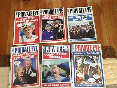 Private Eye magazines 2015 - 6 magazines, funniest ones.