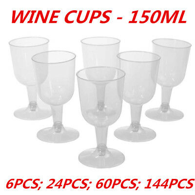 Clear Disposable Party Plastic Clear Red White Wine Glass 150Ml Cups Function