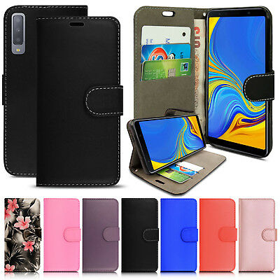 For Samsung Galaxy A7 2018 SM-A750 PU Leather Flip Case Wallet Magnetic Cover