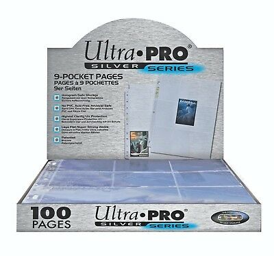 10 x Ultra PRO 9-Pocket Binder Pages Silver Series Card Album Folder 3-Ring