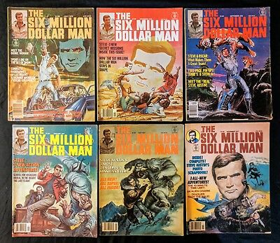 Six Million Dollar Man The (Magazine) Issues  # 1-5 and #7 (6) total