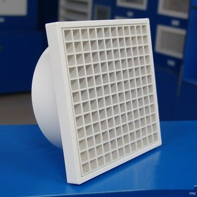 Ac Ventilation Plastic Diffusers/PVC Eggcrate Grille (SS fly mesh)Neck:150mm