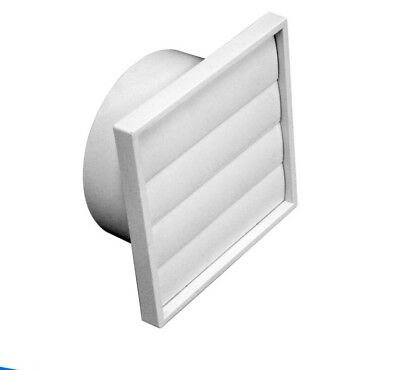 Gravity Louvre/ Plastic Gravity Grille Incl SS fly mesh Neck:150mm