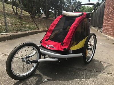 Tag-along Kids Bike Trailer Child Bicycle Pram Stroller Children Jogger