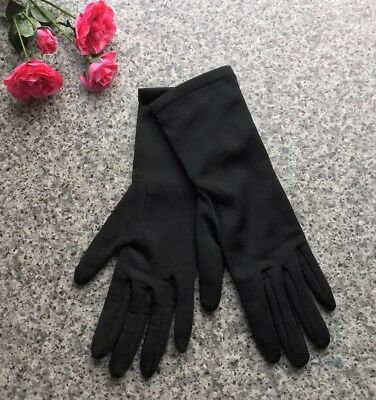 Vintage Retro Ladies St Michael Gloves in Black Warm Lined Size 6.5 - 7.5