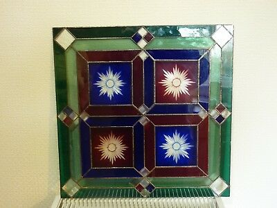 Stained Glass Panel, large glass panel in used condition