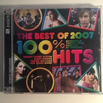 The Best of 2007 100% Hits CD (ZERO SCRATCHES) 46 Tracks 2 CDs Music