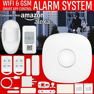 433MHz Wireless WIFI+GSM SMS Auto Dial Smart Alarm Security System Motion Sensor