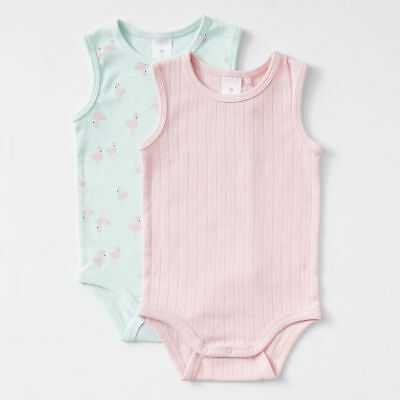 NEW Baby Organic Cotton 2 Pack Bodysuits