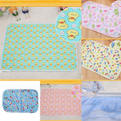 B413 Baby Infant Diaper Nappy Urine Mat Waterproof Bedding Changing 30*45cm