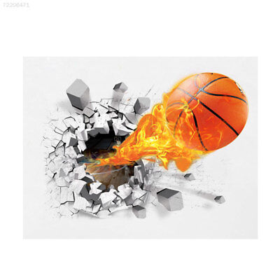 6EC6 3D Basketball Removable Wall Stickers Living Room Decor Kid's Room Mural De