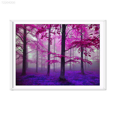 E419 Purple Woods Oil Paintings Pictures Non-Woven Fiber Household Decoration 30