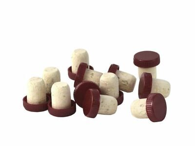 Wine Corks Red Plastic Topped Pack of 30 - Homebrew Home Made Liqueur Mead Honey