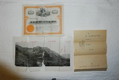 1910 The Wild Boy Mining And Milling Company #75 Pueblo Colorado with Documents