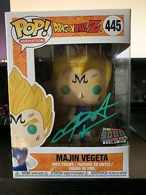 SIGNED Majin Vegeta Funko Pop Over 9000 Exclusive NYCC Dragon Ball Z w/Protector