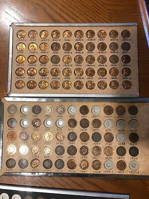 Old One Cent Pennies Lot Of 93 Vintage collectable antique copper