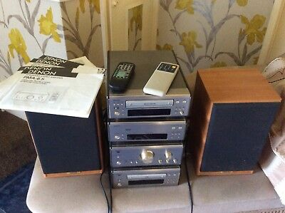 Denon Tuner,CD Player,tape Deck,stereo Amplifier.plus Speckers