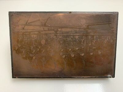 Copper Negative Photograph printing plate Early 1900's Scott Motorcycle Factory