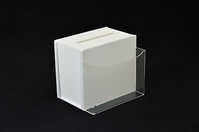 Small Ballot / Collection / Suggestion Box - Acrylic - BB0014 White