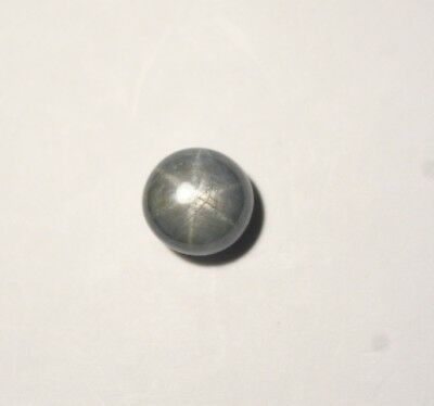 6.4ct Star Sapphire Cabochon - Natural Untreated Sharp Star - Blue / Grey- Video