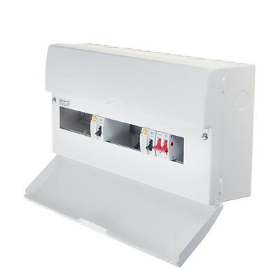 BG 16 Way Dual RCD Consumer Unit With 2 RCDS 10 MCBs Main Switch Cover Blanks