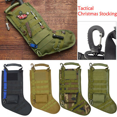 Tactical Christmas Stocking Molle Military Storage Bag Holder Desert Woodland BH