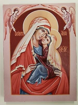 Holy, Righteous Ancestor of God, Anna,orthodox icon.    Size 7, 14/16 x 10, 9/