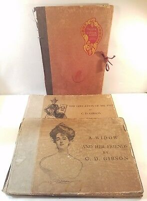 """2 of C.D Gibson 1st edition """"Gibson Girls"""" books signed by author number 4 and 6"""