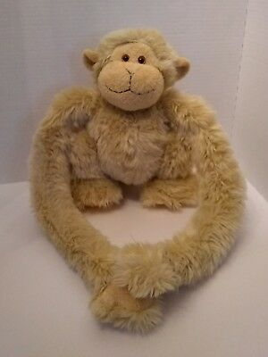 """Animal Alley Monkey Beige Blonde Long Arm Sticky Hands Hanging 12"""" Toys R Us"""