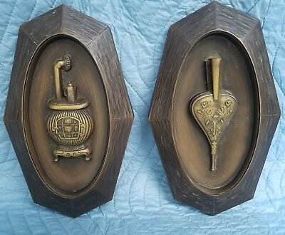 Vintage Pair of Dart Ind. Wall Ornaments
