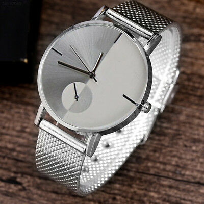 Women Fashion Personality Quartz Watch Metal Stainless Steel Mesh Wrist Strap