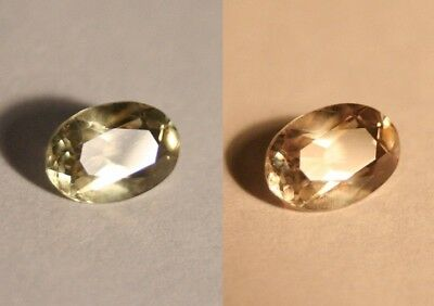 1.14ct Colour Change Diaspore From Turkey - Flawless Oval Cut Gem