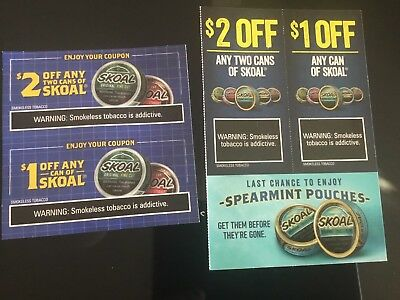 picture regarding Skoal Coupons Printable titled SKOAL AND GRIZZLY Discount coupons - $2.99 PicClick