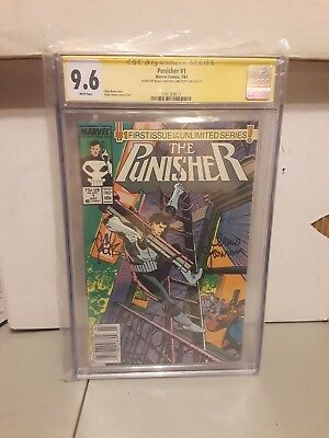 The Punisher Number 1 Cgc Signed 9.6 news stand rare