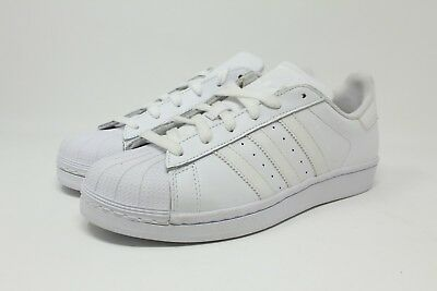 newest 1cf11 13bb7 ADIDAS SUPERSTAR FOUNDATION J # B23641 Triple White GS Big Kids SZ 3.5 - 7