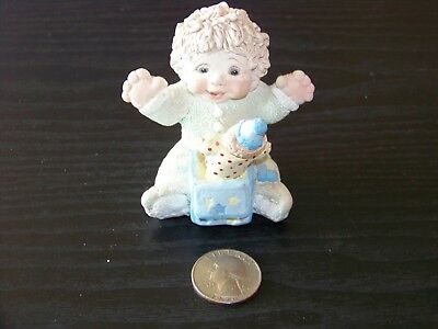 Dreamsicles figurine - 1995 sitting baby boy with clown Jack in the box