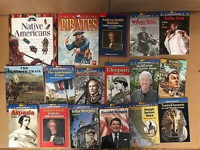 Lot of 24 America US History World Constitution Scholastic Kid Children Book H68
