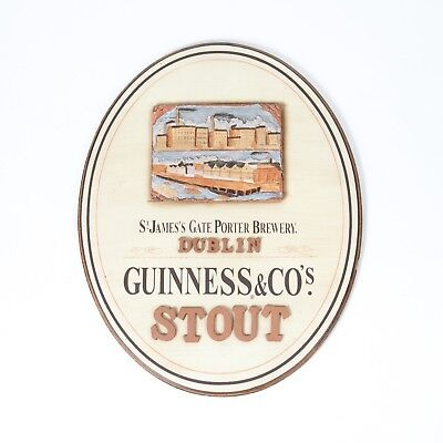 Guinness St. James's Gate Dublin Brewery Wood Beer Sign