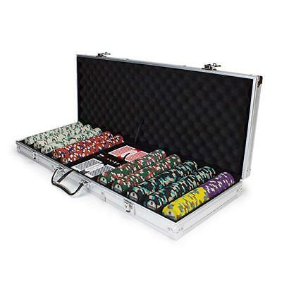 Claysmith Gaming 500 Count Showdown Poker Set with Aluminum Case Chips Cards