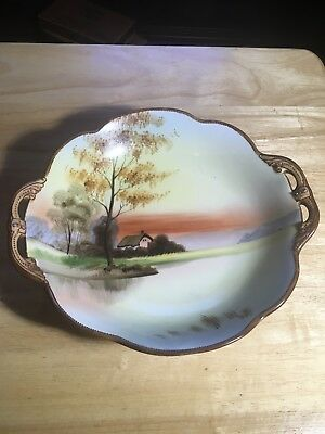 Antique Nippon Hand Painted Candy Or Nut Dish