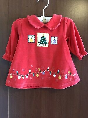 Babies 3-6 Month Old Christmas Dress Red The Mayfair Company Soft Fleece