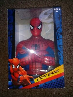 "Marvel Amazing Spiderman Coin Bank *NEW* 6"" tall× 4"" wide."