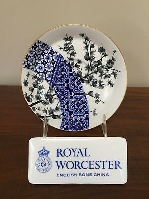 Royal Worcester AESTHETIC BLUE PINECONE Oversized Breakfast Saucer circa 1883