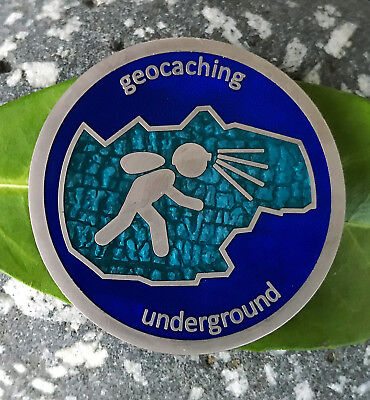 Underground Geocoin- Batch 2- Deep Ice Cave- LE 75, Satin Silver