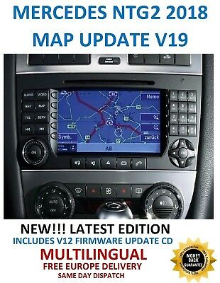 Mercedes NTG2 2018 Comand APS Map DVD Europe v19 + Firmware Update CD