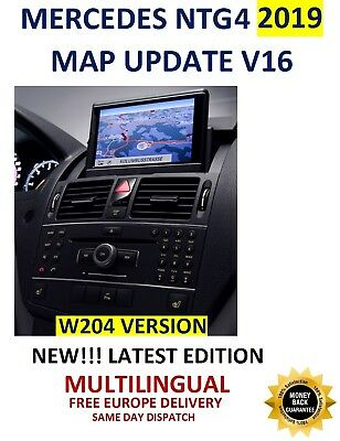 Mercedes NTG4 2019 Europe V16 Map Comand APS W204 + INTEGRATED FIRMWARE!