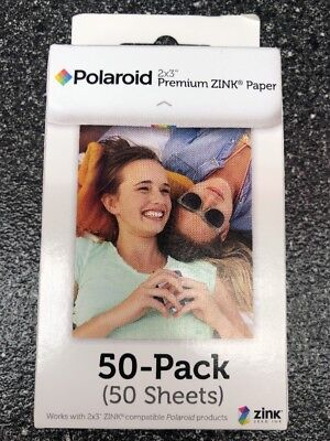 Polaroid 2x3ʺ PREMIUM ZINK Zero PHOTO PAPER 50-Pack Snap/SnapTouch Instant Print
