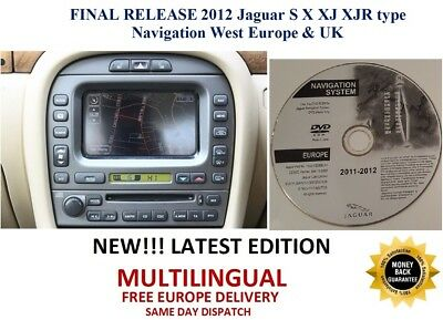 2012 Jaguar S X XJ XJR Type Navigation satnav Disc DVD Europe/UK- FINAL RELEASE