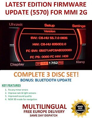 Audi MMI 2G High Software Firmware Update 5570  A4/A5/A6/A8/Q7