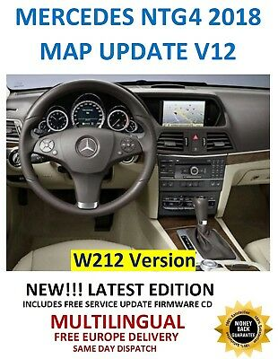 Mercedes NTG4 2018 Europe V12 Map Comand APS W212 + INTEGRATED FIRMWARE!